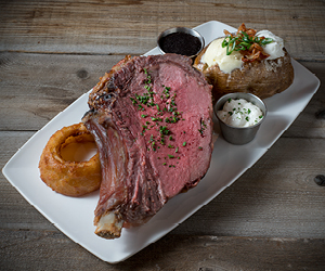 Photo of a Prime Rib dinner